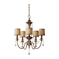 Feiss F2724/5FG Clarissa 5 Light 26 inch Firenze Gold Chandelier Ceiling Light