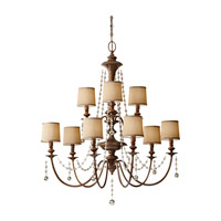 Clarissa 9 Light 37 inch Firenze Gold Chandelier Ceiling Light