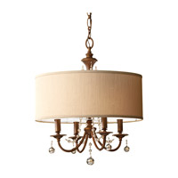 Feiss F2727/4FG Clarissa 4 Light 21 inch Firenze Gold Chandelier Ceiling Light