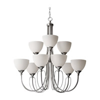 Feiss Morgan 9 Light Chandelier in Brushed Steel F2729/6+3BS