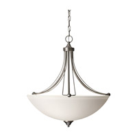 Feiss Morgan 3 Light Pendant in Brushed Steel F2732/3BS