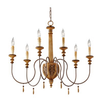 Feiss Annabelle 6 Light Chandelier in Ivory Crackle F2733/6IC