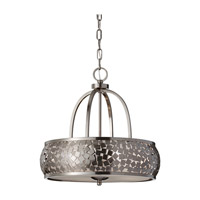 Feiss Zara 4 Light Chandelier in Brushed Steel F2737/4BS
