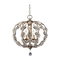 Leila 3 Light 19 inch Burnished Silver Chandelier Ceiling Light
