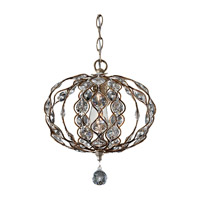 Feiss Leila 1 Light Mini Chandelier in Burnished Silver F2742/1BUS