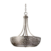 Feiss Zara 4 Light Chandelier in Brushed Steel F2745/4BS photo thumbnail