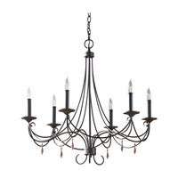 Aliya 6 Light 28 inch Rustic Iron Chandelier Ceiling Light