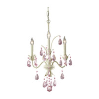Feiss F2756/3IV Charlene 3 Light 14 inch Ivory Mini Chandelier Ceiling Light