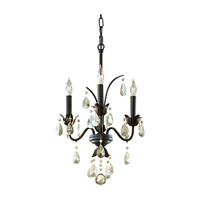 Feiss Charlene 3 Light Mini Chandelier in Liberty Bronze F2756/3LBR