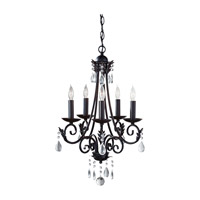 Nadia 5 Light 18 inch Black Chandelier Ceiling Light