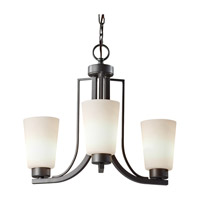 Feiss Weston 3 Light Mini Chandelier in Colonial Iron F2763/3CI