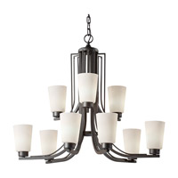 Weston 9 Light 32 inch Colonial Iron Chandelier Ceiling Light in Fluorescent