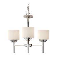 Malibu 3 Light 20 inch Polished Nickel Chandelier Ceiling Light