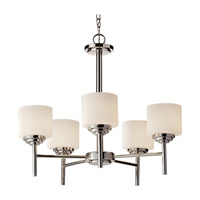 Feiss F2766/5PN Malibu 5 Light 25 inch Polished Nickel Chandelier Ceiling Light