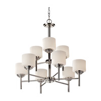 Feiss Malibu 9 Light Chandelier in Polished Nickel F2767/6+3PN