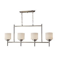 Feiss Malibu 4 Light Linear Chandelier in Polished Nickel F2769/4PN