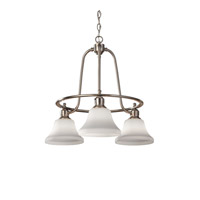 Feiss Cumberland 3 Light Chandelier in Brushed Steel F2781/3BS