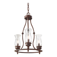 Pickering Lane 3 Light 15 inch Heritage Bronze Mini Chandelier Ceiling Light