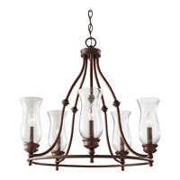 Feiss F2783/5HTBZ Pickering Lane 5 Light 24 inch Heritage Bronze Chandelier Ceiling Light