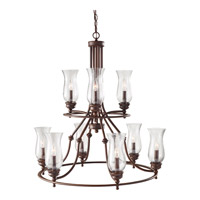 Feiss Pickering Lane 9 Light Chandelier in Heritage Bronze F2785/3+6HTBZ