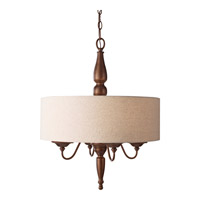 Feiss Yorktown Heights 4 Light Chandelier in Prescott Bronze F2786/4PRBZ