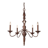 Feiss Yorktown Heights 5 Light Chandelier in Prescott Bronze F2788/5PRBZ
