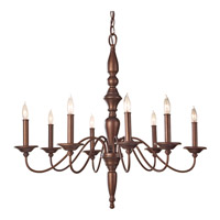 Feiss Yorktown Heights 8 Light Chandelier in Prescott Bronze F2791/8PRBZ
