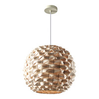 Feiss Denmark 1 Light Pendant in Natural Bamboo F2792/1NB