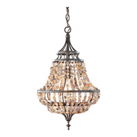 Maarid 1 Light 12 inch Rustic Iron Mini-Chandelier Ceiling Light in Fluorescent