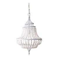 Feiss Maarid 1 Light Mini-Chandelier in White Semi Gloss F2799/1WSG-F