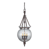 Luminary 3 Light 11 inch Oil Rubbed Bronze Hall Chandelier Ceiling Light
