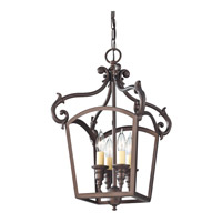 Feiss F2801/4ORB Luminary 4 Light 12 inch Oil Rubbed Bronze Hall Chandelier Ceiling Light