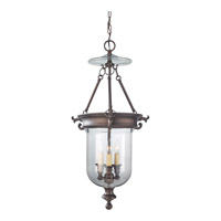 Luminary 3 Light 29 inch Oil Rubbed Bronze Hall Chandelier Ceiling Light