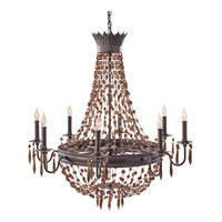 Feiss Marcia 8 Light Chandelier in Rustic Iron F2803/8RI