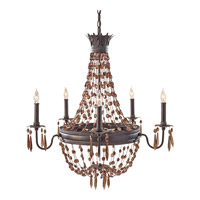 Feiss Marcia 5 Light Chandelier in Rustic Iron F2804/5RI photo thumbnail