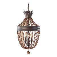 Feiss Marcia 3 Light Mini Chandelier in Rustic Iron F2805/3RI