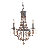 Feiss Marcia 3 Light Mini Chandelier in Rustic Iron F2806/3RI