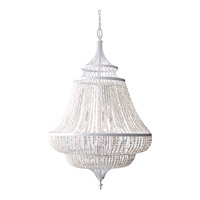 Maarid 9 Light 30 inch White Semi Gloss Chandelier Ceiling Light
