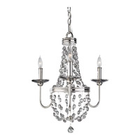 Feiss F2813/3PN Malia 3 Light 19 inch Polished Nickel Mini Chandelier Ceiling Light