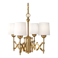 Feiss Hugo 4 Light Chandelier in Bali Brass F2819/4BLB