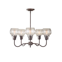 Feiss Urban Renewal 5 Light Chandelier in Rustic Iron F2824/5RI-AL