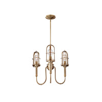 Feiss F2825/3DAB Urban Renewal 3 Light 22 inch Dark Antique Brass Chandelier Ceiling Light in Standard