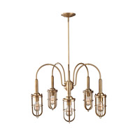 Urban Renewal 5 Light 28 inch Dark Antique Brass Chandelier Ceiling Light in Standard