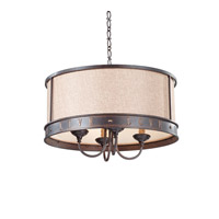 Feiss Live, Laugh, Love 4 Light Chandelier in Grecian Bronze F2827/4GBZ