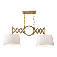 Feiss Hugo 2 Light Billiard Light in Bali Brass F2900/2BLB