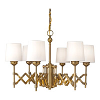 Feiss Hugo 6 Light Chandelier in Bali Brass F2901/6BLB