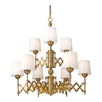 Feiss Hugo 9 Light Chandelier in Bali Brass F2903/6+3BLB
