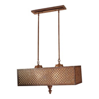 Feiss Kandira 4 Light Billiard Island Chandelier in Moroccan Bronze F2904/4MOB-F