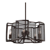 Feiss F2906/5HTBZ Gemini 5 Light 19 inch Heritage Bronze Chandelier Ceiling Light