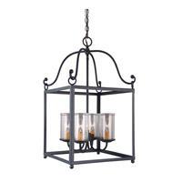 Declaration 4 Light 15 inch Antique Forged Iron Chandelier Ceiling Light